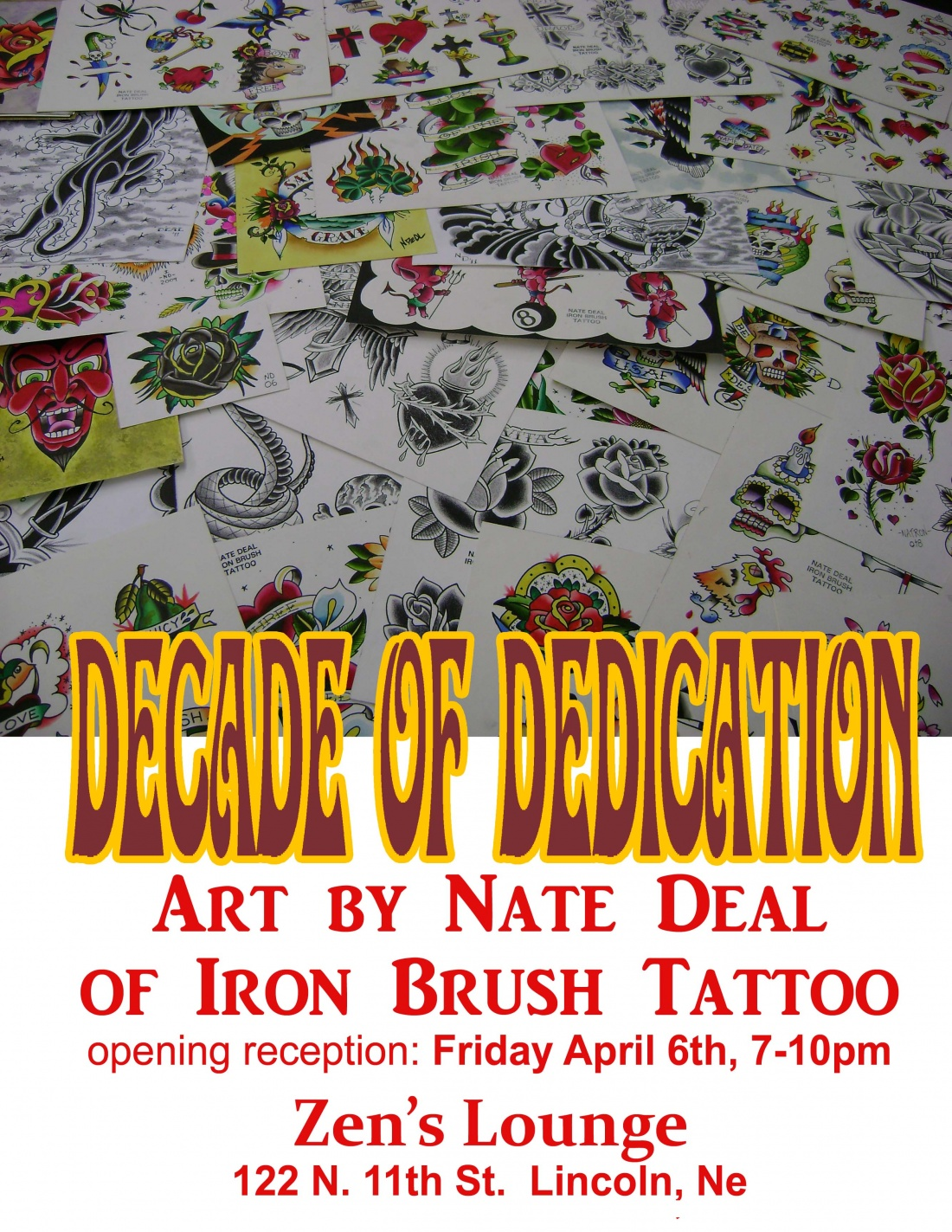 Nate Deal Art Show Zen S Lounge April 6th Iron Brush Tattoo